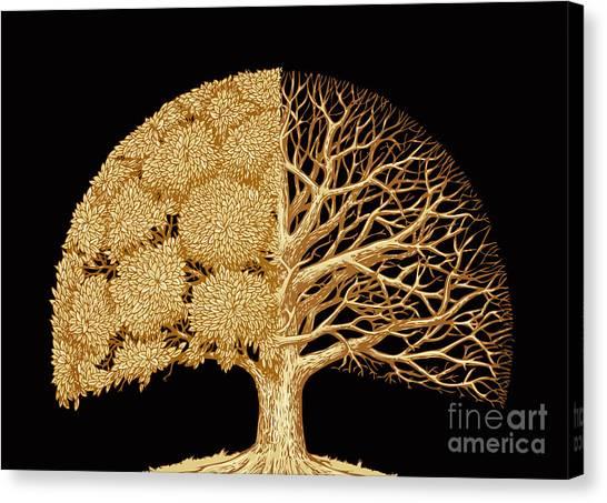 Woodland Canvas Print - Hand Drawn Sketch Tree. Environmental by Ava Bitter