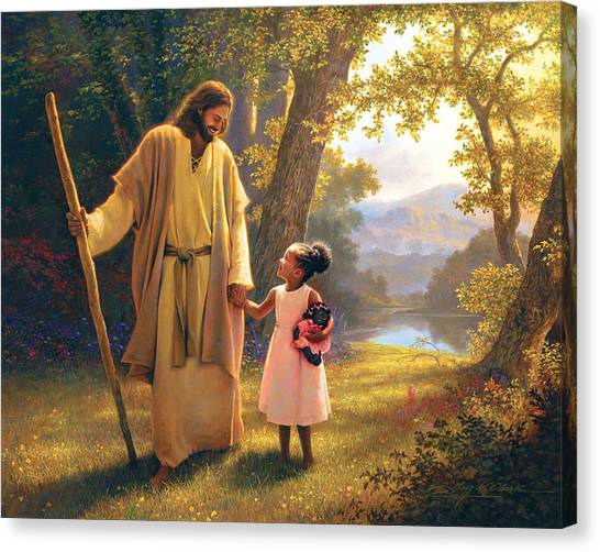 African Canvas Print - Hand In Hand by Greg Olsen