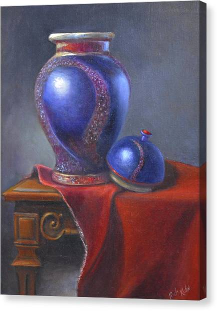Hand Make Vase  Canvas Print by Rich Kuhn