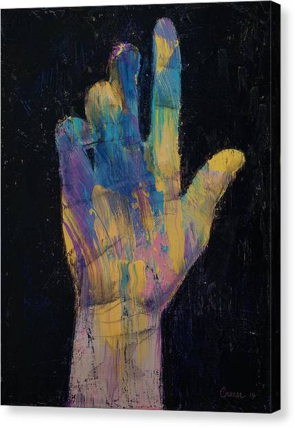 Blending Canvas Print - Hand by Michael Creese