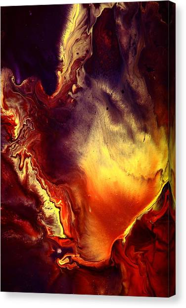 Hand Of Gold Translucent Fluid Macro Photography Art By Kredart Canvas Print