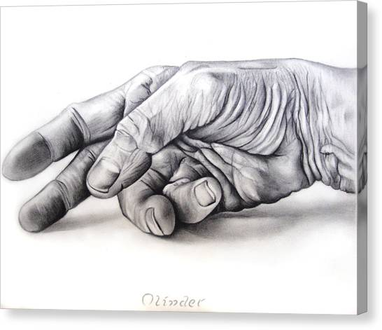 Hand Of Hard Work Canvas Print by Atinderpal Singh