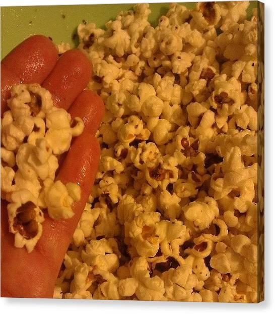 Popcorn Canvas Print - #hand #organic #popcorn #coconut by Rachel Friedman