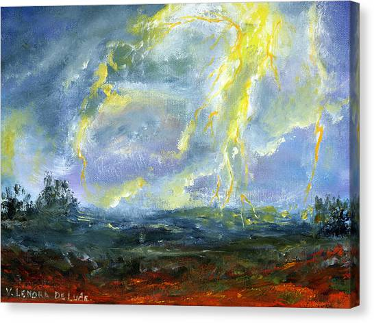 Hand Painted Art Louisiana Storm Canvas Print