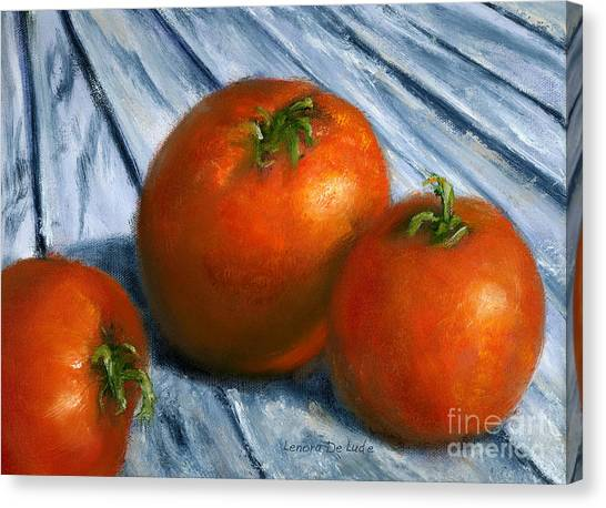 Hand Painted Art Still  Life Tomatoes Canvas Print