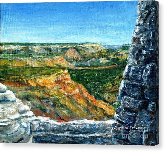 Hand Painted Palo Duro Texas Landscape Canvas Print