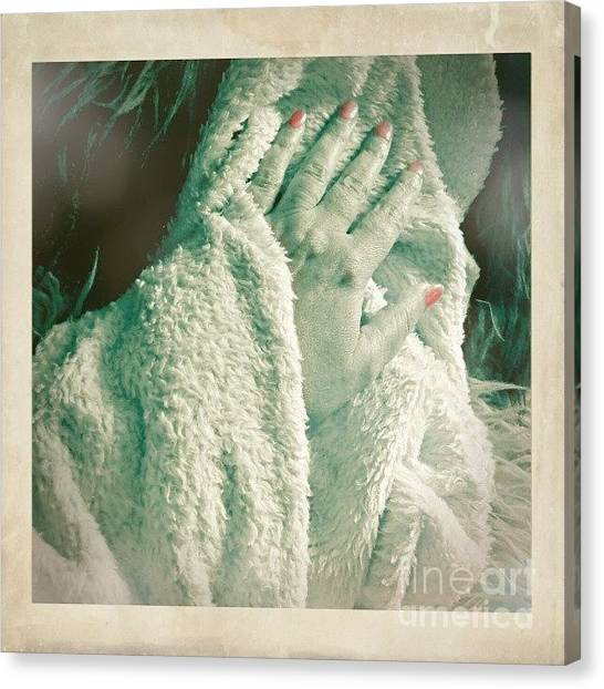 Hands Canvas Print - #hand #phoneart #instagram by Abbie Shores