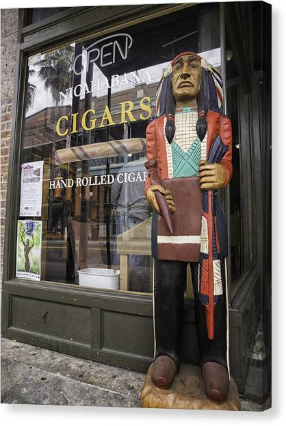 Hand Rolled Cigars Canvas Print