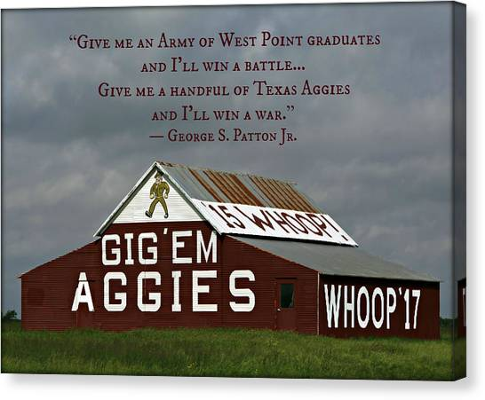 The University Of Texas Canvas Print - Handful Of Aggies by Stephen Stookey