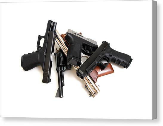 Handgun Collection Canvas Print by Don Bendickson