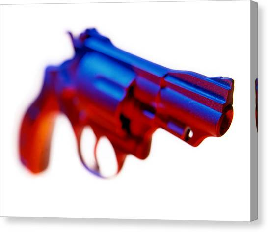 Canvas Print - Handgun. by Mark Preston