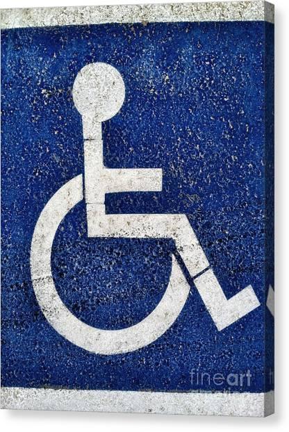 Handicapped Symbol Canvas Print