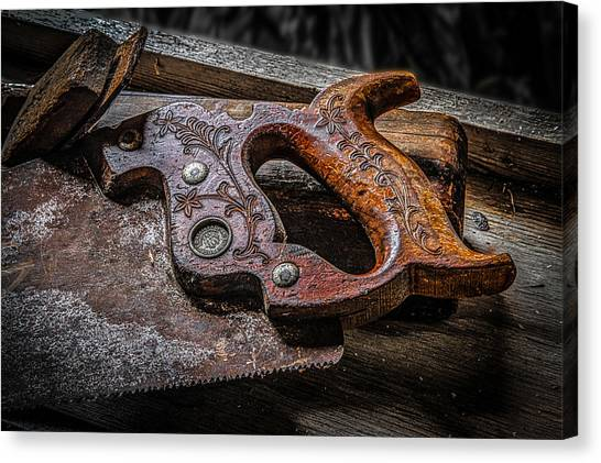 Handle On The Saw  Canvas Print