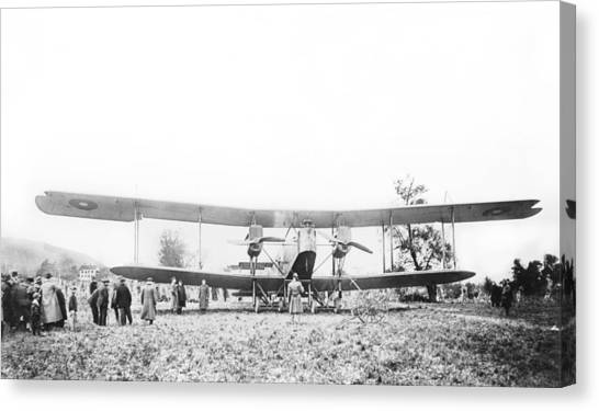 Handley Page Type O Bomber Canvas Print by Library Of Congress
