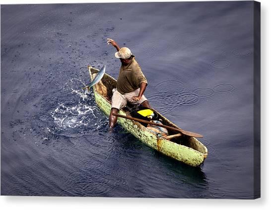 Handline Fisherman Canvas Print