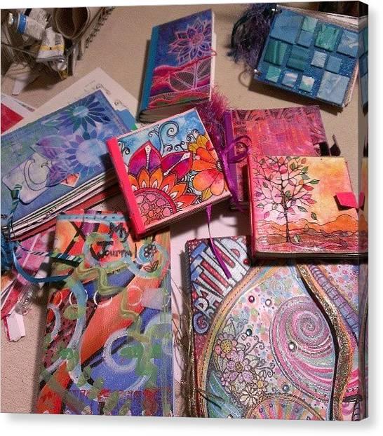 Robins Canvas Print - Handmade Journal Stash...#artjournal by Robin Mead