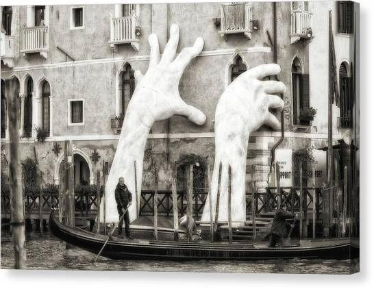 Installation Art Canvas Print - Hands by Federico Righi