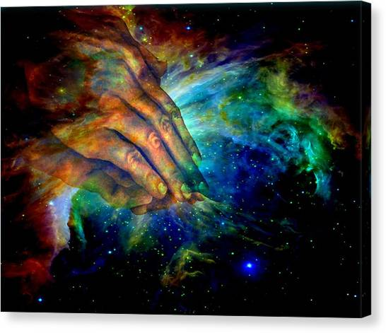 Canvas Print - Hands Of Creation by Evelyn Patrick