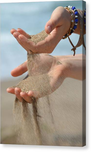 Hands Of Sands Canvas Print