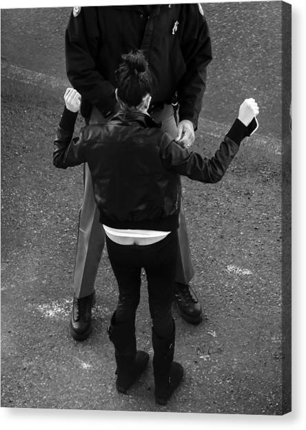 Police Officers Canvas Print - Hands Up by Bob Orsillo
