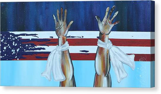 Hands Up Dont Shoot Canvas Print