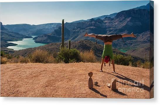 Handstand At Apache Lake Canvas Print