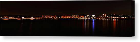 Hangang And Seoul Night Scene Panorama Canvas Print by Phoresto Kim
