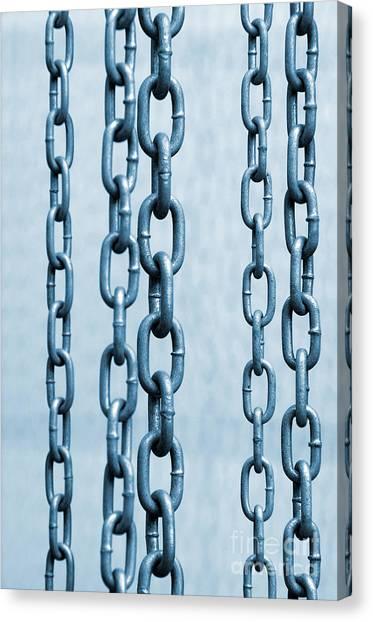 Chain Link Canvas Print - Hanged Chains by Carlos Caetano