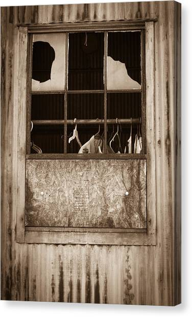Hangers In The Window Canvas Print