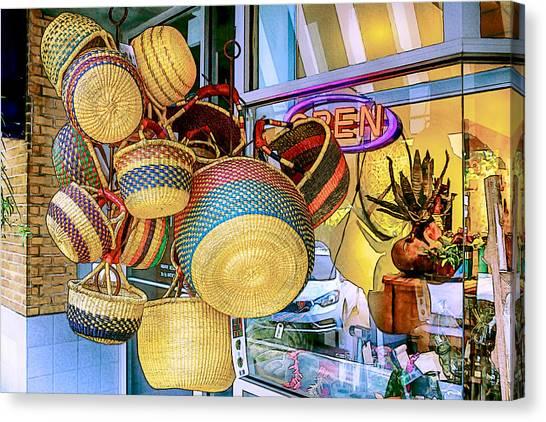 Hanging Baskets Canvas Print
