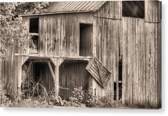 Hanging By A Moment Bw Canvas Print by JC Findley