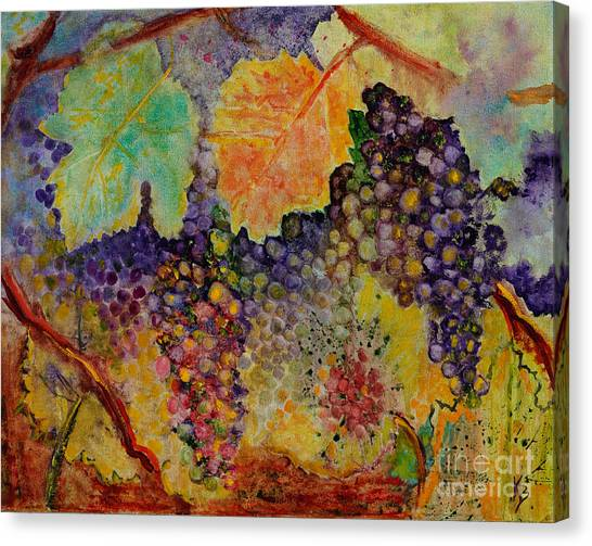 Canvas Print featuring the painting Hanging by Karen Fleschler
