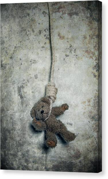 Teddybear Canvas Print - Hanging On The Gallows by Joana Kruse