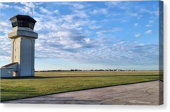Air Traffic Control Canvas Print - Hangover Tower by JC Findley