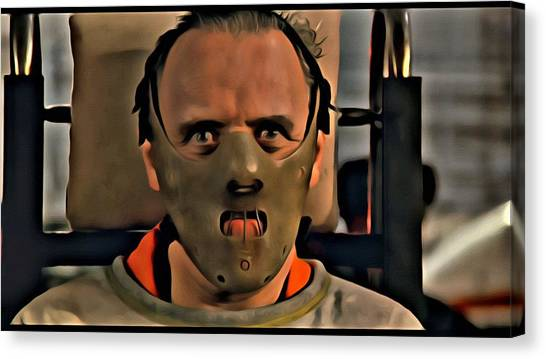 Anthony Hopkins Canvas Print - Hannibal Lecter by Florian Rodarte
