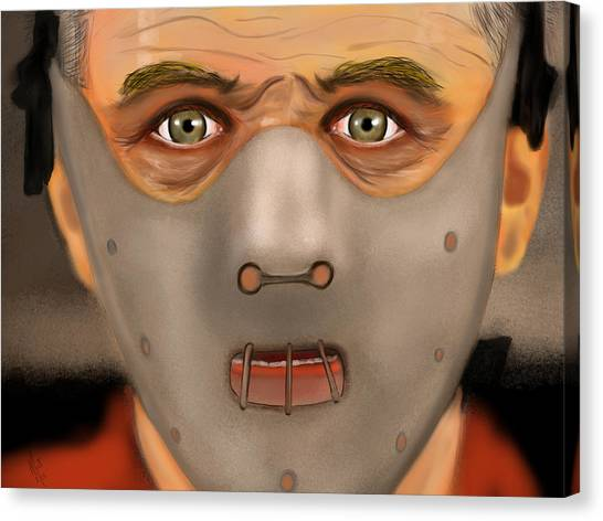 Anthony Hopkins Canvas Print - Hannibal  by Mathieu Lalonde