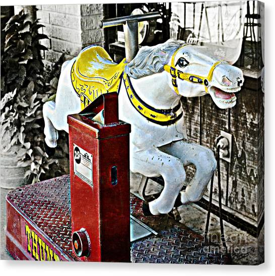 Hannibal Mechanical Riding Horse Canvas Print