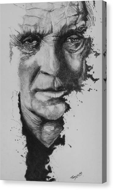 Anthony Hopkins Canvas Print - Hannibal by Terry  McColl