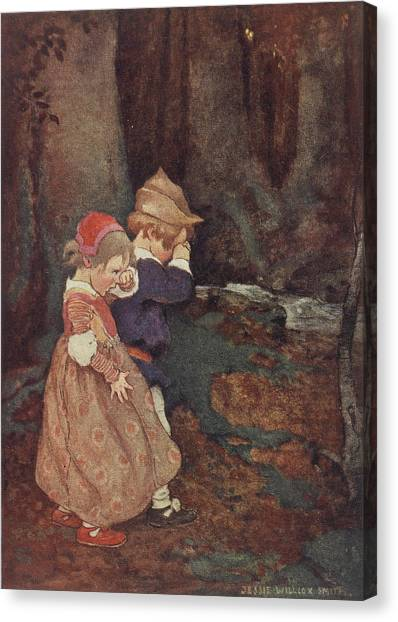 English And Literature Canvas Print - Hansel And Gretel by British Library