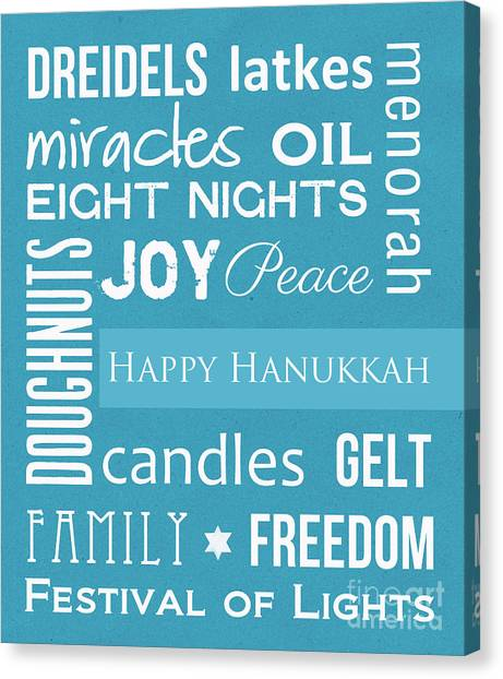 Teachers Canvas Print - Hanukkah Fun by Linda Woods
