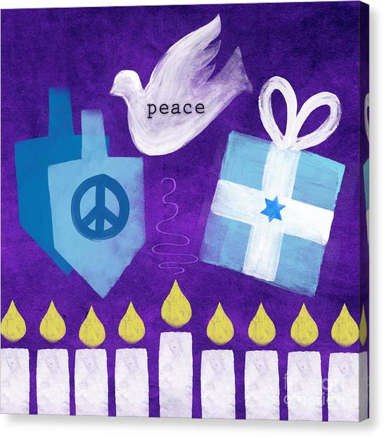 Dove Canvas Print - Hanukkah Peace by Linda Woods