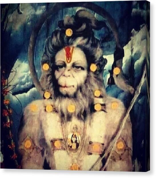 Hinduism Canvas Print - #hanuman #hinduism #god #powerful #world by Vijay Patel