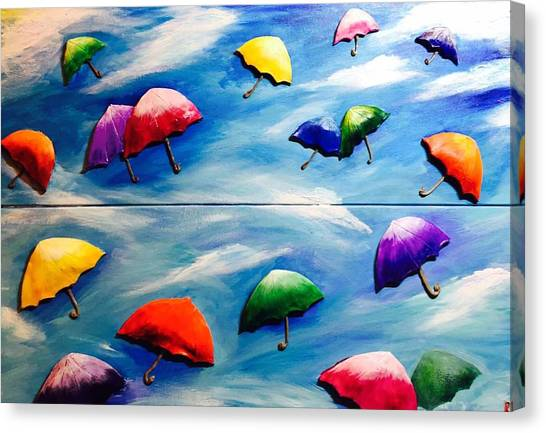 Happines In The Sky Canvas Print