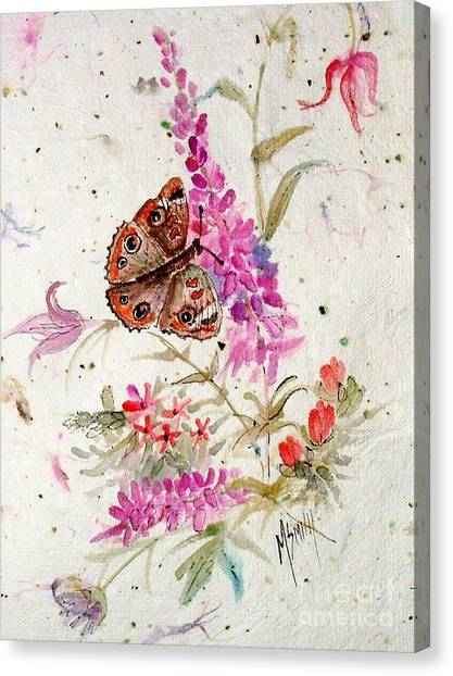 Buckeye Butterfly Canvas Print - Happiness Is A Butterfly by Marilyn Smith