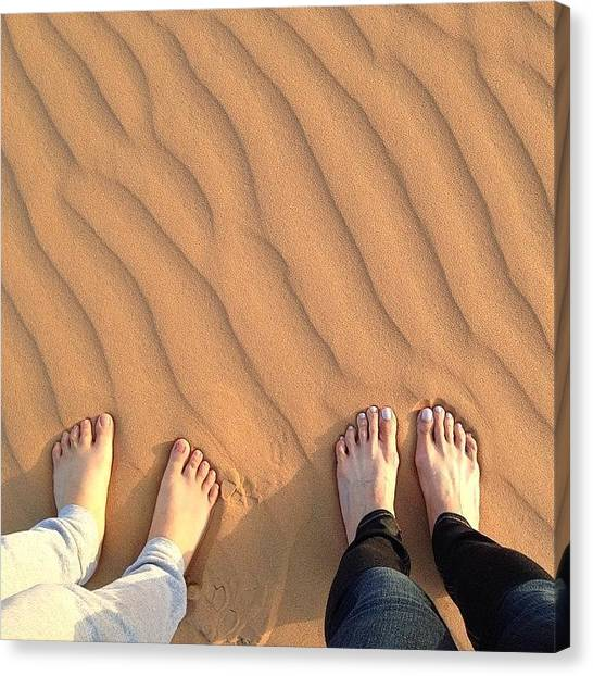 Sahara Desert Canvas Print - Happiness Is: A Friend By Your Side by Blogatrixx