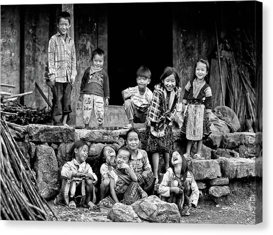 Vietnamese Canvas Print - Happiness Is Having Nothing... by John Moulds