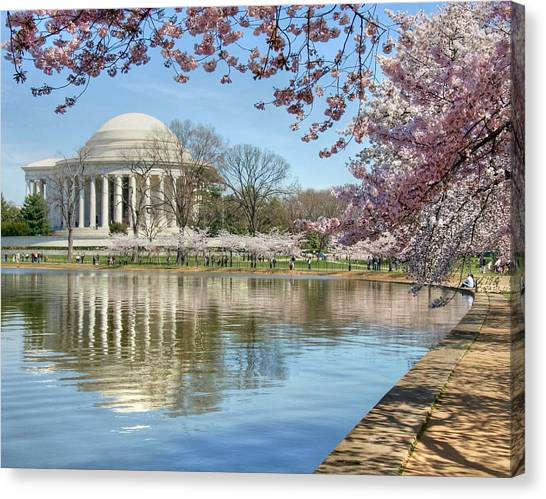 Jefferson Memorial Canvas Print - Happiness by Mitch Cat