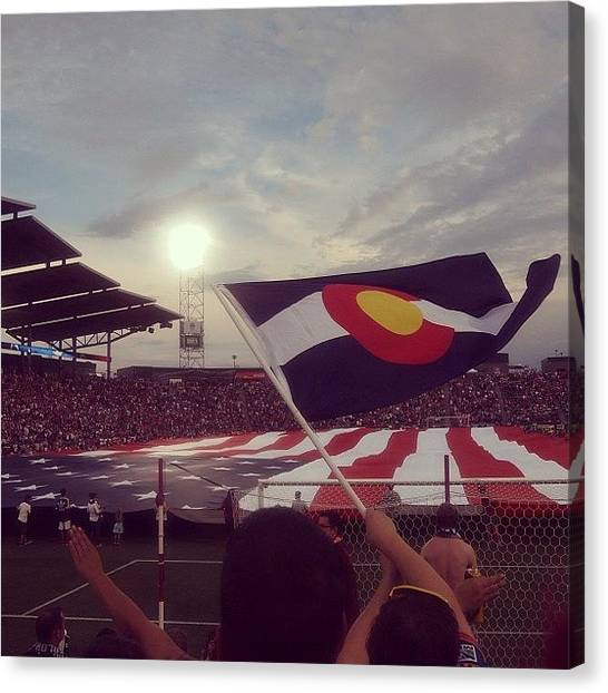 Soccer Teams Canvas Print - Happy 4th Of July From Colorado! by Amberly Rose