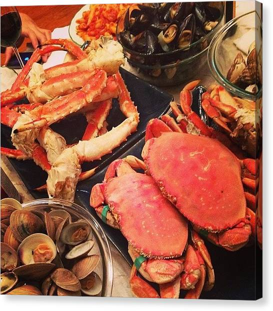 Seafood Canvas Print - Happy Birthday Dad! It's A #seafood by Van Le