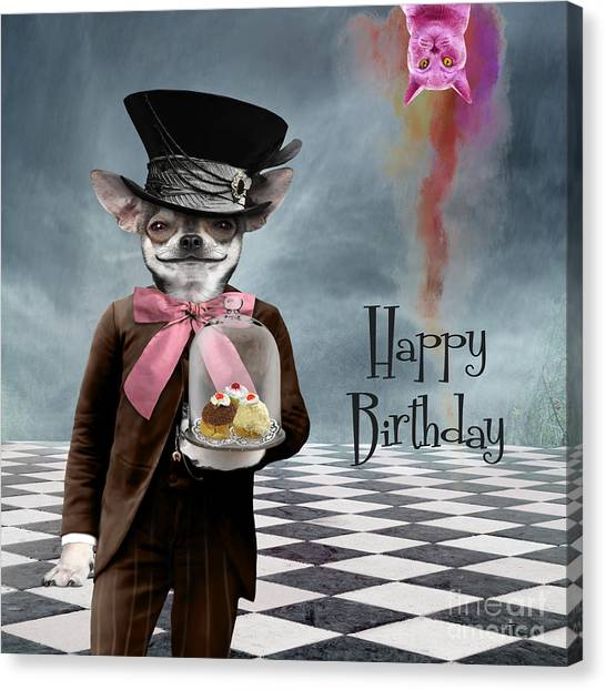 Happy Birthday Canvas Print - Happy Birthday by Juli Scalzi